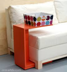 c sofa table white rolling c end table or sofa table diy projects