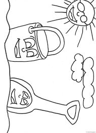 print out beach pail and shovel coloring bookfree printable