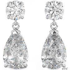 drop bridal earrings 925 sterling silver deco cubic zirconia tear drop earrings