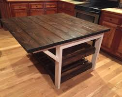 rustic kitchen islands kitchen island etsy