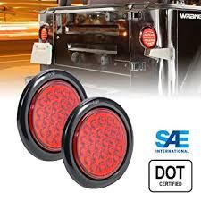 led trailer tail lights amazon com 2pc ols 4 round red led trailer tail lights 24 led