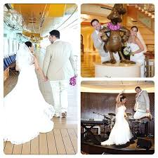 disney cruise wedding the ship is a backdrop for wedding pictures