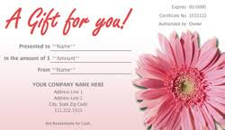 nail salon gift cards landscape and garden store gift certificate templates easy to use