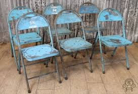 Vintage Bistro Chairs Blue Vintage Folding Chairs Vintage Industrial Retro
