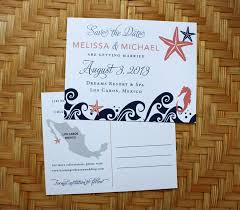 save the date postcards cheap pink blue destination wedding save the dates emdotzee