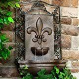 outdoor wall mounted fountains amazon com