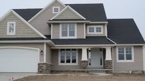 grey craftsman style house home styles