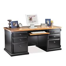 Solid Wood Corner Desk With Hutch Furniture Dark Solid Wood Computer Desk With Brown Wooden Top