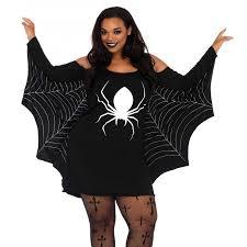 spiderweb plus size jersey tunic dress halloween dress