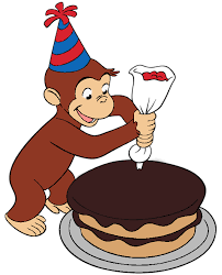 curious george birthday curious george decorated a cake colored happy birthday