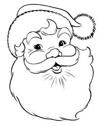 happy merry christmas santa coloring download