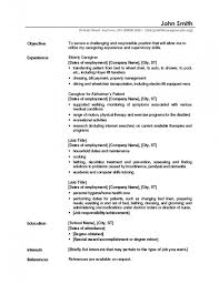 Sample Objectives In A Resume by Caregiver Resume Samples U2013 Resume Examples