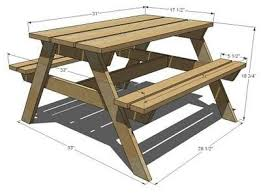 Table Picnic Table Plans Furniture Designs 7 Design Modern by I Want To Make This Diy Furniture Plan From Ana White Com Our