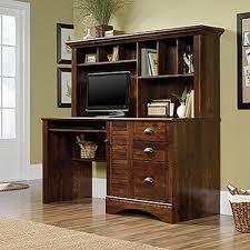 sauder bookcase cherry sauder harbor view curado cherry computer desk with hutch 420475