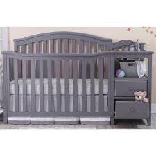Gray Convertible Cribs by Convertible Crib With Changing Table Attached Gray U2014 Thebangups