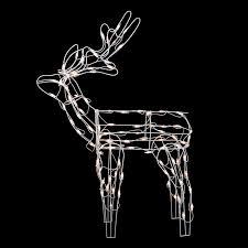 lighted reindeer northlight standing reindeer lighted christmas yard decoration