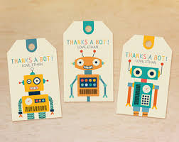 Personalized Party Decorations Robot Party Favor Etsy