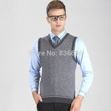 mens sweater vests high quality autumn casual sweater vest fashion v