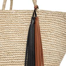 straw bag with tassel cuyana
