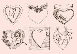 vintage hearts for valentines day royalty free stock image image