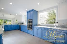Custom Kitchen Design Custom Kitchen Blue U0026 White Majestic Custom Woodworks Inc