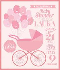 Baby Shower Invitation Cards Baby Baby Shower Invitation Card U2014 Stock Vector Nglyeyee