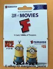 fandango gift card collectible no value ebay
