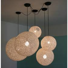Wicker Light Fixture by Random Pendant Light D50
