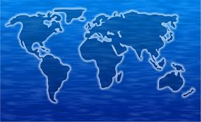 Blue World Map by World Map Images Public Domain Pictures Page 1