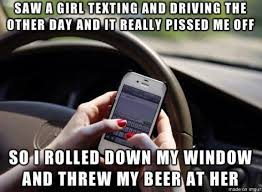 Meme Saw - saw a girl texting and driving meme