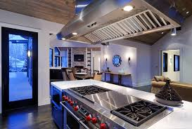 kitchen island stove kitchen rustic with ceiling lighting dark