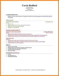 No Experience Resume Samples by 6 High Resume Examples No Experience Daily Chore Checklist