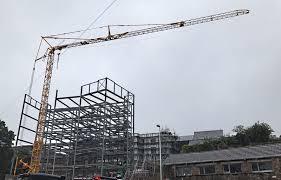 self erecting tower crane in swansea mantis cranes crane hire