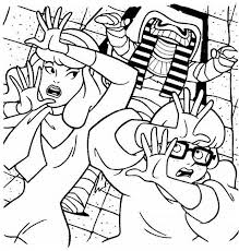 scooby doo mummy coloring pages cartoon pinterest embroidery