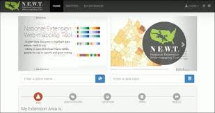 national extension web mapping tool u2013 extension map syst