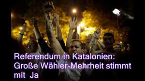 referendum in katalonien große wähler mehrheit stimmt mit ja