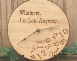 personalized family name clock laser engraved wooden wall