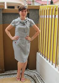 mad men dress mad men esque dress new look 6968 sewing projects burdastyle