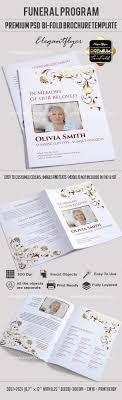 funeral program printing premium funeral program template premium bi fold brochure