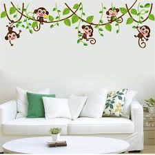 Aliexpresscom  Buy Jungle Monkey Tree Branch Wall Stickers For - Animal wall stickers for kids rooms