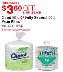 chinet plates costco deal chinet 165 ct or hefty diamond 150 ct paper plates