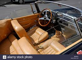 classic alfa romeo sedan interior of classic alfa romeo convertible sports car stock photo