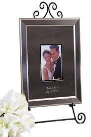 personalized wedding autograph frame personalized signature frame with titanium frame david s bridal