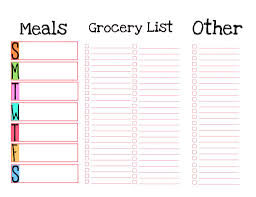Menu Planner With Grocery List Template Tweaked To My Lakeon Liking Meal Planner Grocery List Printable