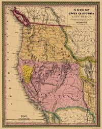 Map Of California And Oregon by Old State Map Oregon Upper California 1845