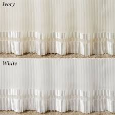Detachable Bed Skirts Formal Pleated Voile Bedskirts Two Lengths