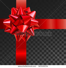 gift bow realistic vector illustration on stock vector 562087330