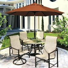 patio table and chairs with umbrella hole outdoor table umbrella iamfiss com