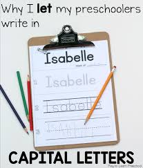 should children write their names with capital letters
