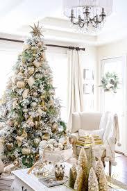 christmas home tour holiday home showcase 2016 flocked